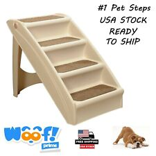 Pet Dog Stairs Ramp Foldable Ladder Portable Cat Step Climb Bed Non-Slip 4 Steps