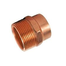 """15mm x 1/2"""" brass plumbing COUPLER for solder connection to copper pipes male"""