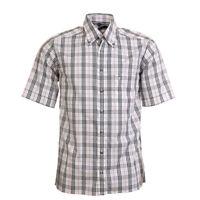 Eterna Eccellente Camicia Bianca Quadri Cotone Taglia S Bw 369