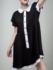 Disturbia Dolls Kill Hettie Collared Dress Gothic Pinup Punk UK 6 Sz XS/S