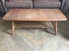 Vintage Ercol Light Wood  Coffee Table / Magazine Rack - Windsor ? - Blue Label