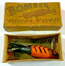 F2) Vintage Bomber Bait Co Fishing Lure w Box Gainesville Texas