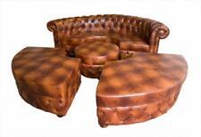 Chesterfield Rundsofa Ledersofa Ecksofa Couch Polster Sitz Rund Sofa Garnitur