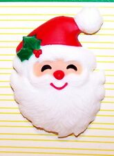 1984 NEW Hallmark Christmas JOLLY SANTA Pin on Green Card ~ Never Used ~ XLP3621