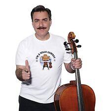 NEW NWT D'Addario Cello Cowboy T-Shirt, Large White Music Men's Shirt