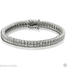 2 Row Woman's Tennis Bracelet With Natural Diamonds 7.5 Inches