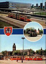 Plauen Sachsen DDR Mehrbild-AK 1984 ua. Bahnhof, Historische Straßenbahn Tram