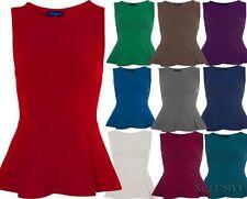 Ärmellose Taillenlang Damenblusen,-Tops & -Shirts mit Polyester für Party