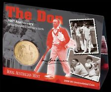 Australian Donald Sir Don Bradman Australia Baggy Green Cricket Coin Gift Set
