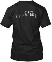 Oilfield Oil Field Heartbeat Hanes Tagless Tee T-Shirt