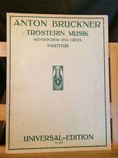 Bruckner Trosterin musik choeur d'homme et orgue partition Universal 3294