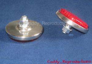1955 1956 Cadillac Eldorado Tail Light Reflector Dots Replacement Version W/Back