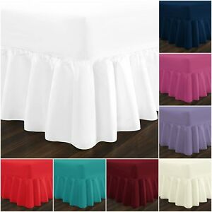 Plain Dyed Valance Sheet Poly-Cotton OR Fitted Sheet Single Double & King Sizes