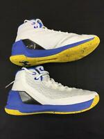 Men's Under Armour Basketball Shoes White Size 9.5 Athletic Shoes