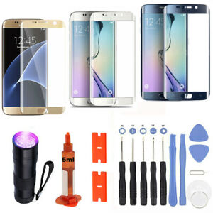 For Samsung Galaxy S6 Edge Plus OEM Replacement Front Screen Glass Lens Tools