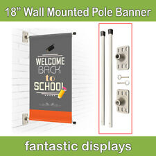 "Wall Mounted Pole Banner Bracket 18"" Hardware Only for Street Banner Prints"