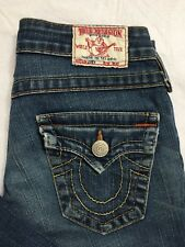 True Religion Joey Size 25 Bootcut Flap Pocket Med Wash Distressed Stretch EUC