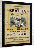 The Beatles Vintage Poster reprint signed pre-print poster Framed