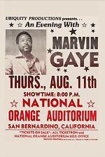 Marvin Gaye at San Bernardino California Concert Poster 1977  12x18