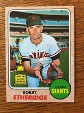 Vintage Value; 1968 Topps Bobby Etheridge #126 VG EX 4 Rookie - All-Star