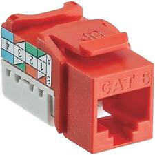 6 Pk Leviton Orange 8 Wire Cat-6 Data Grade Connector Jack 127-61110-R06