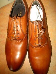 Men's Cole Hann Hamilton Grand Plain Oxfords Brown Leather Shoe New Sz 11M