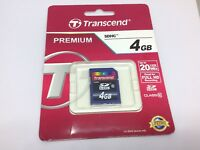 TRANSCEND SD MEMORY CARD 4GB Class 10 (full Size Sdhc) Nintendo Wii /3Ds /Dsi