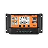 10A~100A LCD MPPT Solar Panel Battery Regulator Charge USB Dual Controller Q6D8