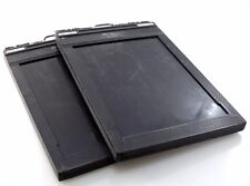 2x Fidelity Deluxe Large Format Film Holder 6.5 x 4.75 film to fit 5x7 Camera