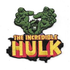 Marvel Comics The Incredible Hulk Reaching Over Name Logo Embroidered Patch NEW