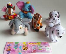 Disney Characters Plush set of 6 Dumbo, 101 Dalamatians, Bambi
