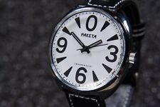 Russian mechanical watch RAKETA BIG ZERO. White dial. 39mm