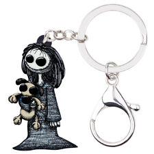 Acrylic Halloween Smile Doll Toy Keychain Ring For Women Bag Punk Jewelry Gifts