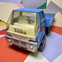 Vintage Tonka Flatbed Ramp Hoist Rollback Tiltbed Tow Truck Large Rare Model