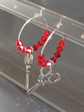 Gorgeous Pair Of Hand Crafted Charm beaded Hoop Earrings Xmas Fillers / Gift No7