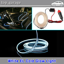 3M White EL Wire Cold light lamp Neon Lamp Car Atmosphere Light Unique Decor 12V