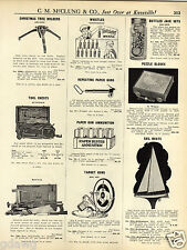 1931 PAPER AD Toosietoy Store Display Whistles Early Cap Gun Toy Tool Kit