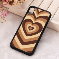 Coffee Latte Heart Phone Case iPhone X 11 12 Mini Pro Love Hippie Silicone Cover