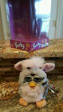 Electronic FURBY 1st Generation TIGER 1998 Gray Spotted & Pink used In Box
