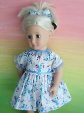 """18"""" OUR GENERATION~AMERICAN GIRL Dolls Clothes / DRESS~HEADBAND / blue flowers"""