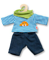 Heless Puppen Kleidung Jeans mit Streifenshirt für 35 - 45 cm Puppen 2315...