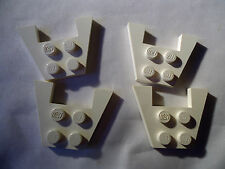 LEGO 3 x 4 WHITE  WEDGE PLATE WITHOUT STUD NOTCHES PART No 4859