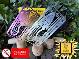 Survival Credit Card 18 in 1 Emergency EDC Survival Bushcraft Camping Hiking
