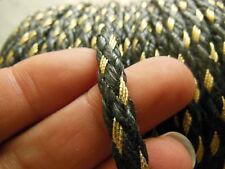 cordon galon  idéal embrase anse noir et doré or bijoux 3 mètres sur 0,6 cm