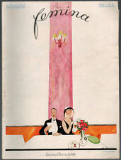 FEMINA Magazine ~ February 1922 ~ Zyg Brunner ~ Vintage French Fashion Art Deco