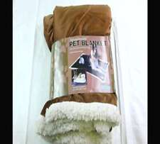 KritterWorld Pet Microplush Sherpa Snuggle Blanket, 45-Inch-by-30-Inch, Chocolat