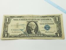 1957 Blue Seal $1 One Dollar Silver Certificate Bill - Old Paper Money