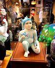 "Sergio Bustamante's ""Sitting Fish Boy"" Ceramic Sculpture - Large Piece COA"