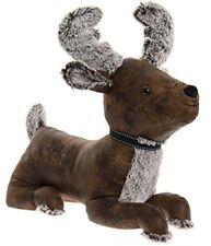 Heavy Faux Leather Animal Doorstop Deer Reindeer Stag Door Stop