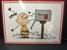 Pottery Barn Kids VALENTINE Day Peanuts PLACEMAT Charlie Brown Snoopy Table NEW